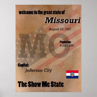 Missouri die Show ich Staats-Klassiker Poster