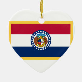 Missouri-Flagge Keramik Ornament