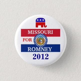 MISSOURI für Romney 2012 Runder Button 2,5 Cm