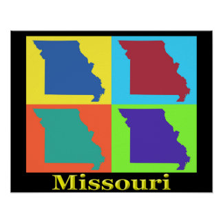 Missouri-Karte Poster