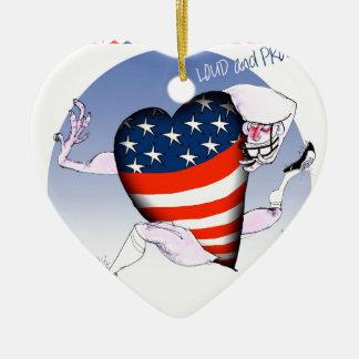 Missouri laute und stolz, tony fernandes keramik Herz-Ornament