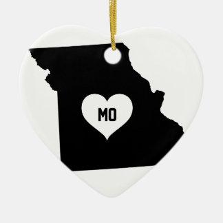 Missouri-Liebe Keramik Ornament