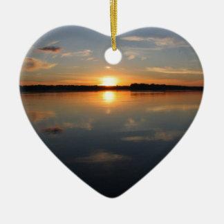 Missouri-Sonnenuntergang Keramik Herz-Ornament