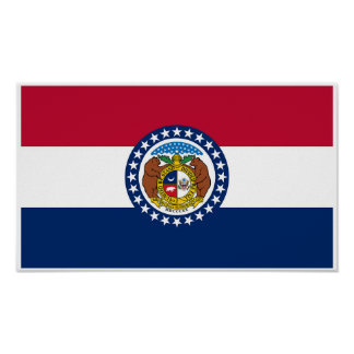 Missouri-Staats-Flagge Poster