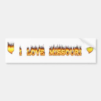 Missourifeuer und -flammen der Liebe I Autoaufkleber