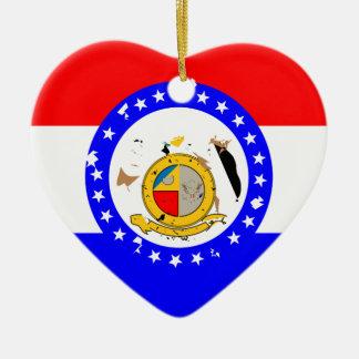 MissouriFlagge Keramik Herz-Ornament