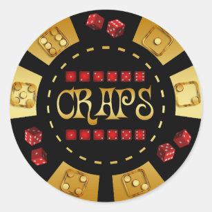 Mist Spiel Chip Runder Aufkleber