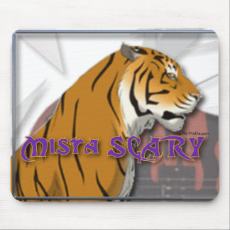 Mista BEÄNGSTIGENDES bengalisches Tiger-Logo Mousepads