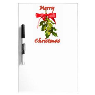 Mistelzweig der frohen Weihnachten Trockenlöschtafel