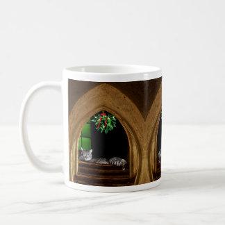 Mistelzweig-Kathedralen-Katze Kaffeetasse