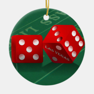 Misten legen mit Las Vegas-Würfeln ver Keramik Ornament
