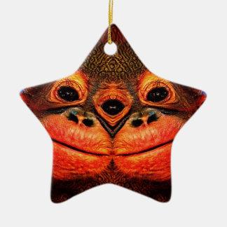 Mit Augen Affe psychedelische drei Keramik Stern-Ornament