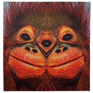 Mit Augen Affe psychedelische drei Serviette