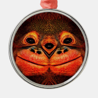 Mit Augen Affe psychedelische drei Silbernes Ornament