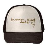 Mit Augen Baby Browns Kappe
