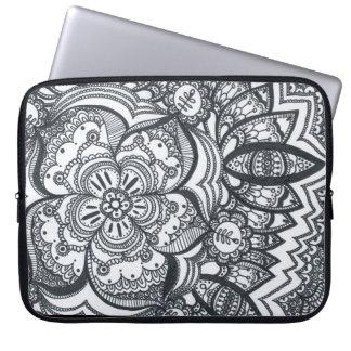 Mit Augen Blumemandala-Laptop-Hülse Computer Sleeve Schutzhülle