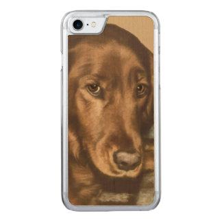 Mit Augen goldener irischer Hund Browns Carved iPhone 8/7 Hülle