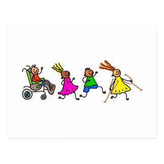 Mit Behinderung Kinder Postkarte