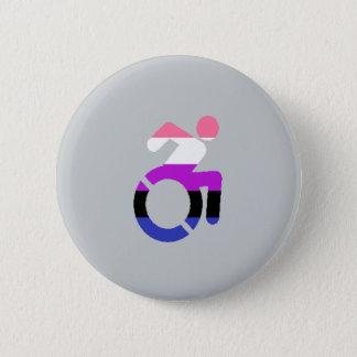 Mit Behinderung Stolz - Genderfluid Runder Button 5,1 Cm