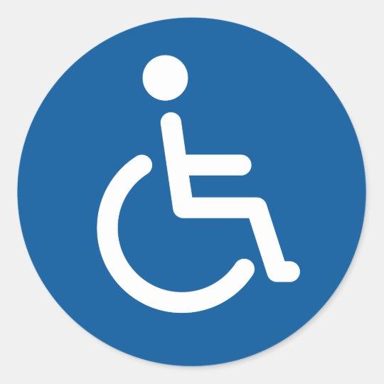 Mit Behinderung Symbol Runder Aufkleber