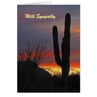 Mit Beileid Saguaro-Kaktus am Sonnenuntergang Karte