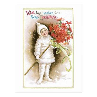 Mit besten Wünschen - Ellen Clapsaddle Postkarte