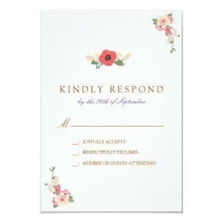 Mit Blumen, die Besen-Hochzeit UAWG Antwort Karte
