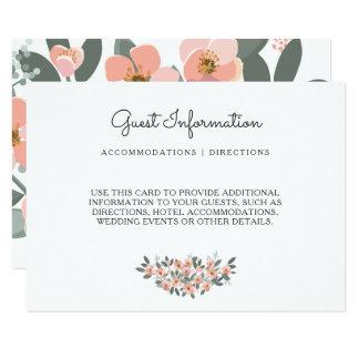 Mit Blumen erröten Hochzeits-Reihen-Warte-UAWG Karte