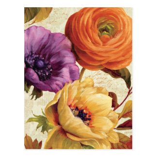 Mit Blumen in voller Blüte Postkarten