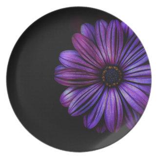 Mit Blumen, Kunst, Entwurf, schön, neu, Mode Melaminteller