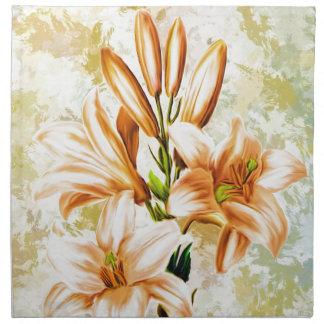Mit Blumen, Kunst, Entwurf, schön, neu, Mode, Stoffserviette