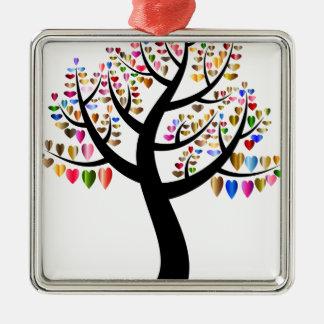 mit Blumen Silbernes Ornament