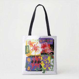Mit Blumen - Taschentasche Tasche