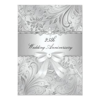 Mit Blumen u. beugen Sie 25. Hochzeitstag einladen Karte
