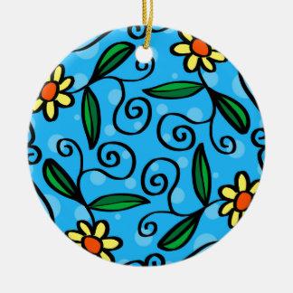 Mit Blumenabstraktes Keramik Ornament