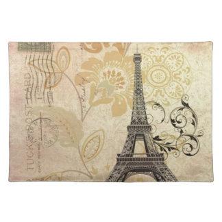 Mit Blumenturm Mod-Girly Vintager Paris Eiffel Tischset