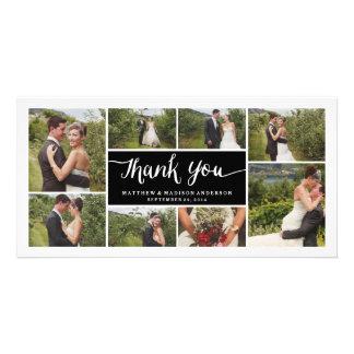 Mit Buchstaben gekennzeichnete Wedding   danken Fotokartenvorlagen