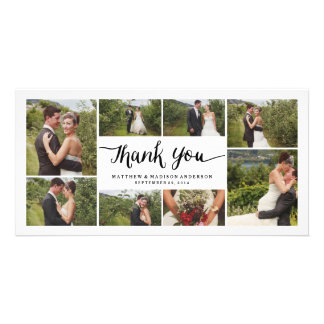 Mit Buchstaben gekennzeichnete Wedding | danken Photokarte