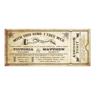Mit diesem Ring Vintage Hochzeits-Karten-Einladung 10,2 X 23,5 Cm Einladungskarte