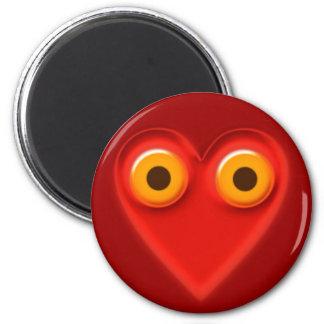 MIT-DM Herzen sehen das Sehen mit dem Herzen Runder Magnet 5,7 Cm