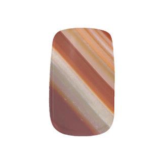 Mit einem Band versehenes Achat-Foto mit Braun und Minx Nagelkunst