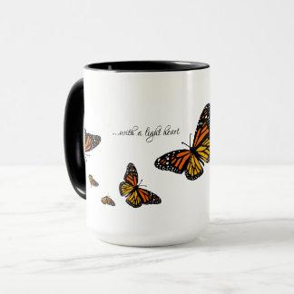 Mit einem hellen Herzen - Tasse