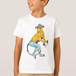 Mit einer Persönlichkeit des Comic schmückt T-Shirt