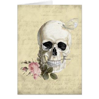 Mit einer Rose zwischen meinen Zähnen Grußkarte