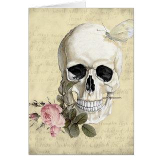 Mit einer Rose zwischen meinen Zähnen Mitteilungskarte