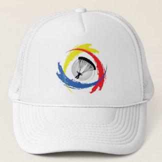 Mit Fallschirm abspringendes Tricolor Emblem Truckerkappe