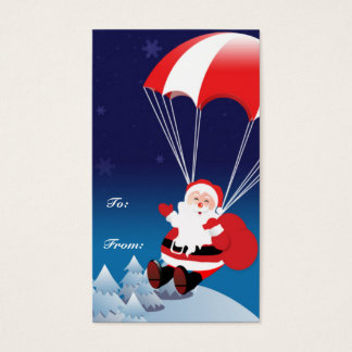 Mit Fallschirm abspringensankt Visitenkarte