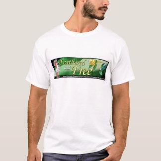 Mit Federn versehenes und freies Logo T-Shirt