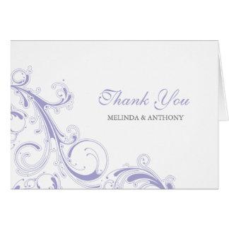 Mit Filigran geschmückter Strudel-Lavendel danken Karte