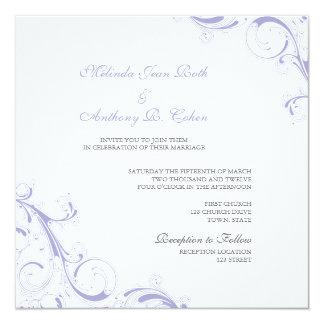 Mit Filigran geschmückter Strudel-Lavendel Karte